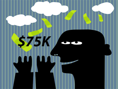 How much will it take to make you happy? Research proves $75,000 oughta do it