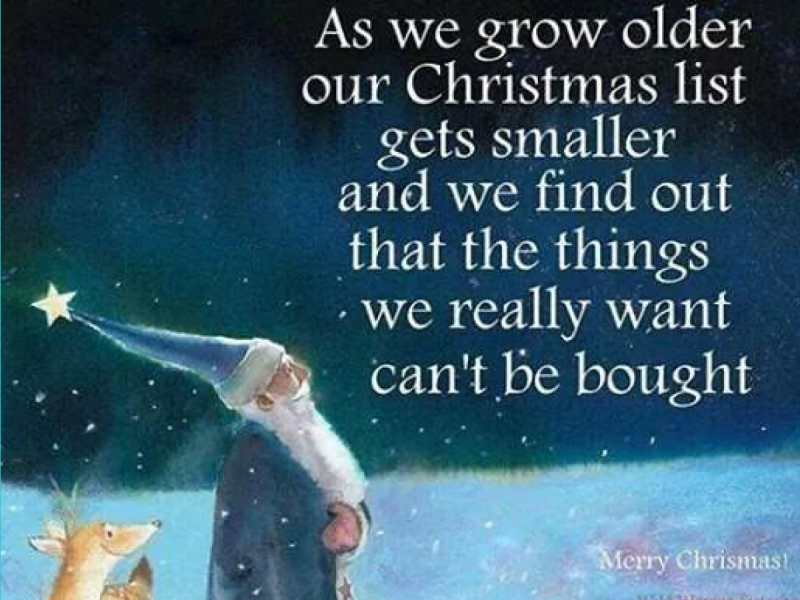 From the Epilogue, Strange Blessings: My Grown Up Christmas List (Part One)